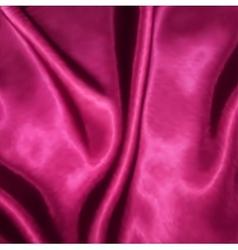 Smooth elegant pink silk vector image