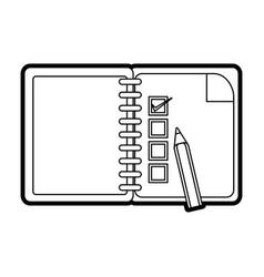 checklist with pencil icon image vector image
