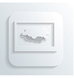 Cloud in the monitor icon vector