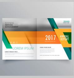 Orange and green business brochure design template vector