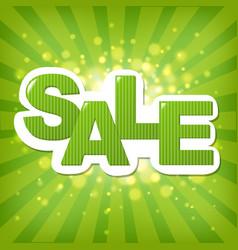 Green sale poster vector