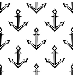 Sea anchor seamless pattern vector
