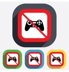 Do not play joystick sign icon video game vector