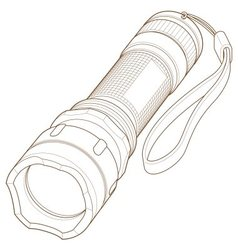 Led flashlight vector