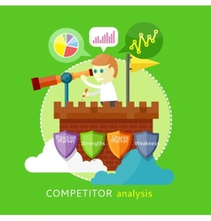 Competitor analysis concept vector