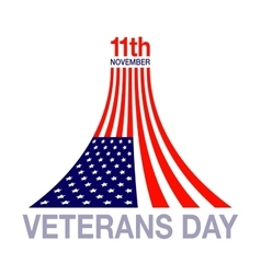 Veterans day flag design logo emblem vector