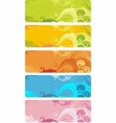 Wavy banner set vector