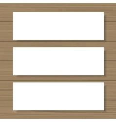 Blank banners mock up vector