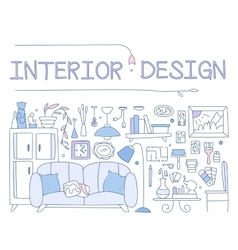 Interior design improved interior apartment vector
