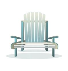 Adirondack wooden chair front vector