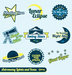 Astronomy and Stars Labels and Icons vector image vector image