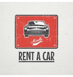 Auto service set Rent a Car Garage auto vector image vector image