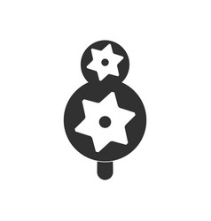 Black icon on white background eco tree with vector