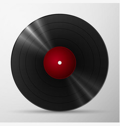 Black vinyl record vector image