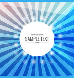 blue abstract background with transparent rays vector image