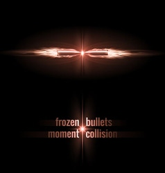 Bullets collision vector image vector image