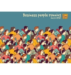 Business people big group competition color vector