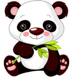 cartoon panda vector image vector image