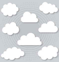 Clouds with shadows vector