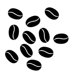 Coffee beans isolated on white vector