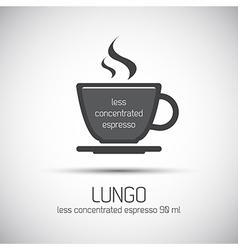 Cup of espresso lungo simple icon vector image