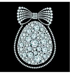 diamond egg vector image vector image