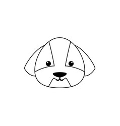dog drawing face vector image vector image