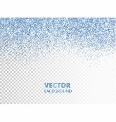 falling glitter confetti blue dust vector image vector image