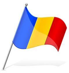 Flag of romania vector