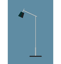 Floor lamp flat icon vector