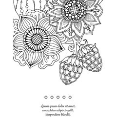 Floral card Hand drawn artwork with abstract vector image vector image