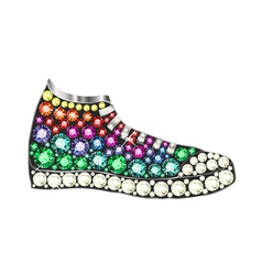 Gem sneakers vector