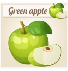 Green apple Cartoon icon Series of food vector image vector image