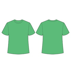 Green t shirt vector image