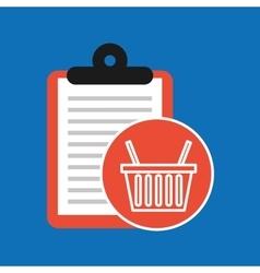 Hand holding shop online basket vector