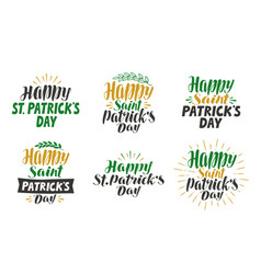 happy saint patricks day greeting card beer vector image vector image