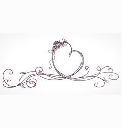 heart shape ribbon valentines day wedding vector image vector image