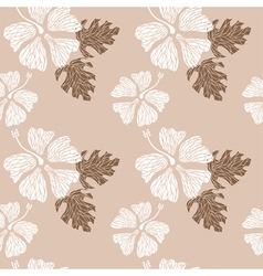 hibiscus pattern nude vector image vector image