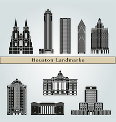 houston landmarks vector image vector image