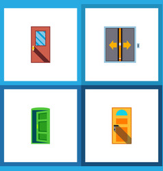icon flat approach set of entry approach vector image vector image