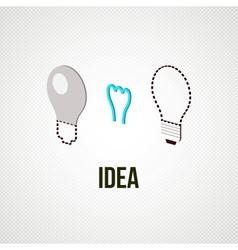 light bub the idea concept vector image