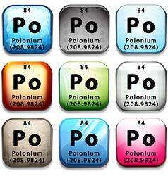 Polonium vector image