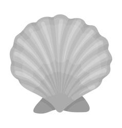Prehistoric seashell icon in monochrome style vector image vector image