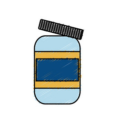 Protein supplement bottle icon vector