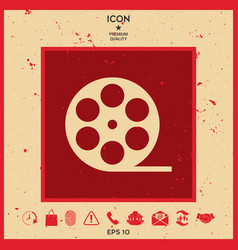 reel film symbol icon vector image