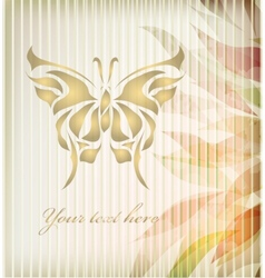 Retro floral background card vector image vector image