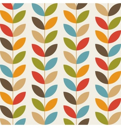 Retro flower pattern background vector