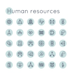 Round HR Icons vector image