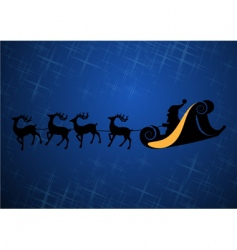Santa Claus with his reindeers vector image vector image