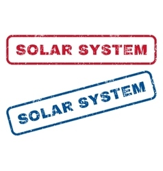 Solar system rubber stamps vector